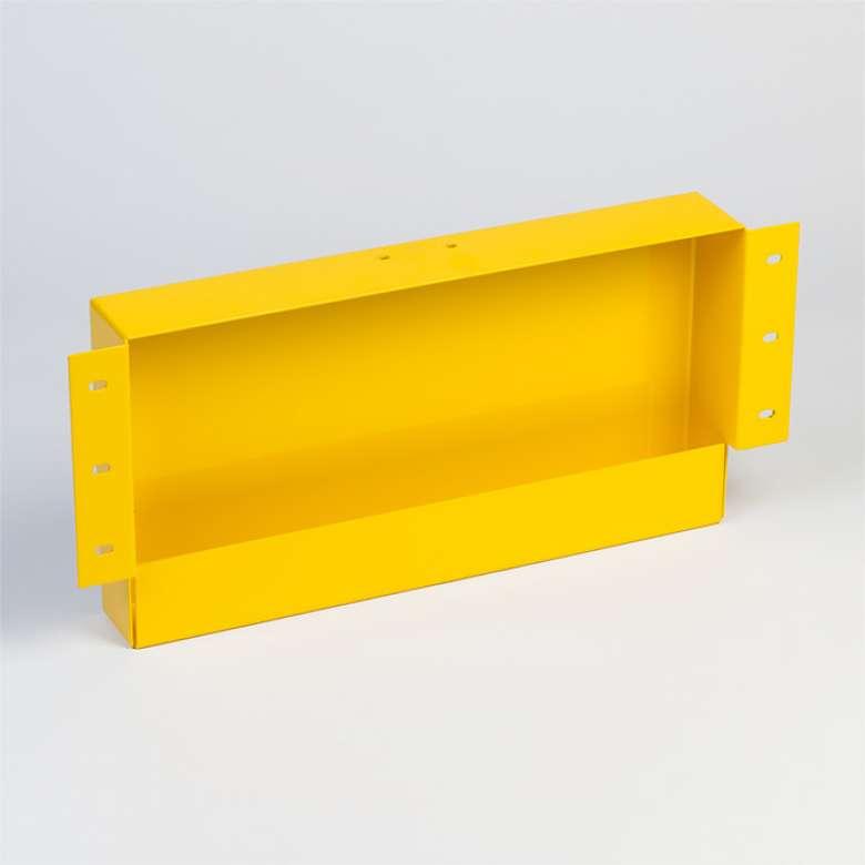 Blechteil Pulverbeschichtet Gelb